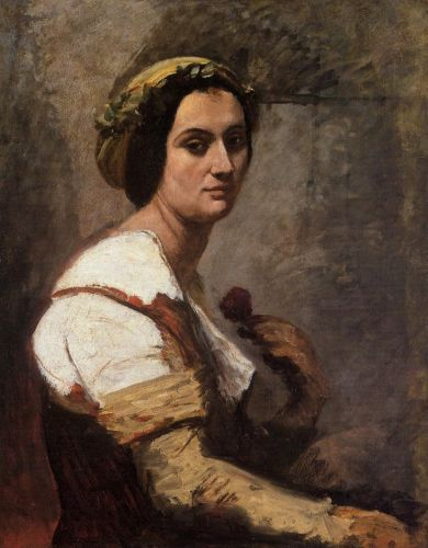 Sibylle by Jean-Baptiste Camille Corot