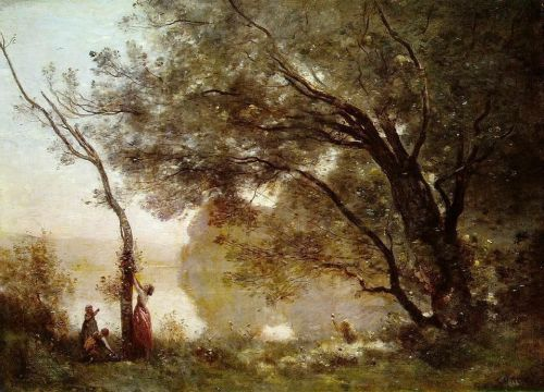 Souvenir of Montefontaine, 1864 by Jean-Baptiste Camille Corot