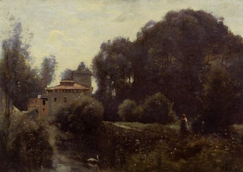 Souvenir of the Villa Borghese by Jean-Baptiste Camille Corot