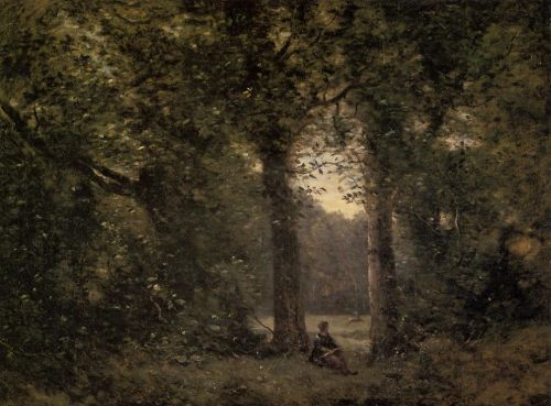 Souvenir of Ville d'Avray by Jean-Baptiste Camille Corot