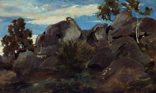 Stoller in the Fontainebleau Forest by Jean-Baptiste Camille Corot