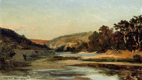 The Aqueduct in the Valley by Jean-Baptiste Camille Corot