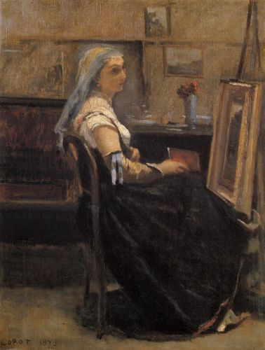 The Artist's Studio 2 by Jean-Baptiste Camille Corot