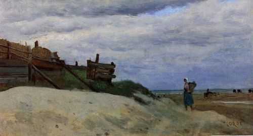 The Beach at Dunkirk by Jean-Baptiste Camille Corot