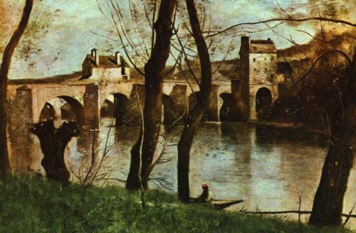 The Bridge at Nantes by Jean-Baptiste Camille Corot