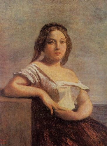 The Fair Maid of Gascony by Jean-Baptiste Camille Corot