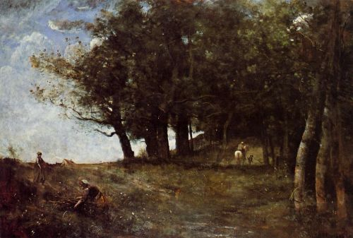 The Forestry Workers by Jean-Baptiste Camille Corot