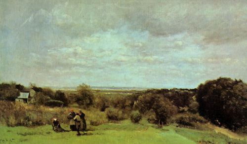 The Grape Harvest at Sevres by Jean-Baptiste Camille Corot