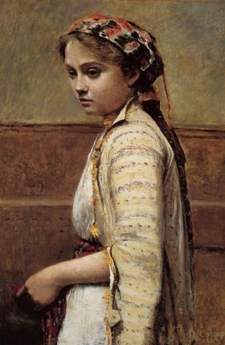 The Greek Girl by Jean-Baptiste Camille Corot