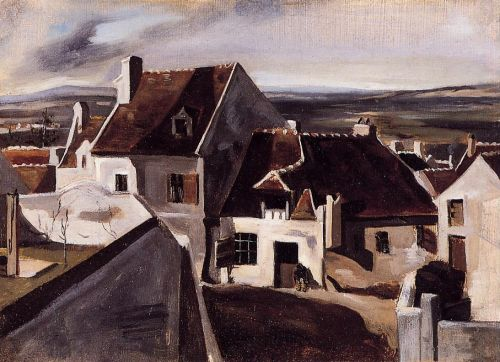 The Inn at Montigny-les-Cormeilles by Jean-Baptiste Camille Corot