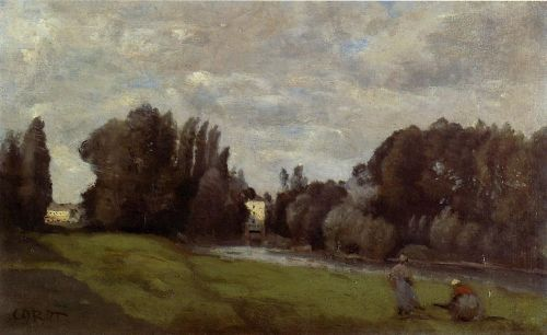 The Mill in the Trees by Jean-Baptiste Camille Corot