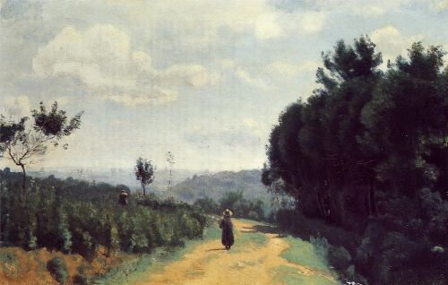 The Severes Hills - Le Chemin Troyon by Jean-Baptiste Camille Corot