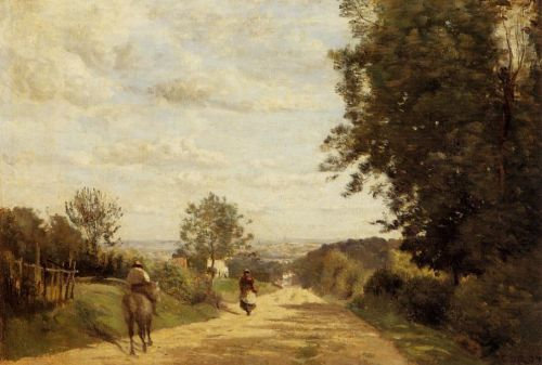 The Sevres Road by Jean-Baptiste Camille Corot