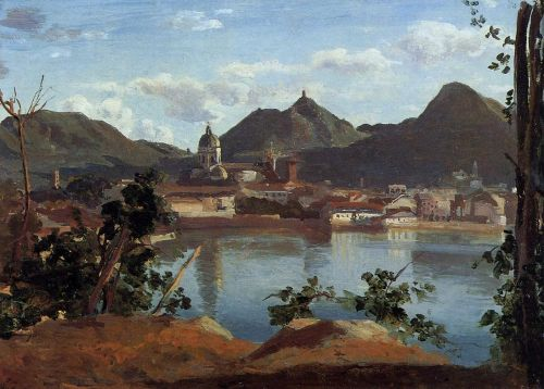 The Town and Lake Como by Jean-Baptiste Camille Corot