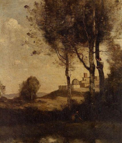 Tuscan Beaters by Jean-Baptiste Camille Corot