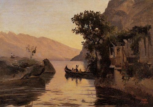View at Riva, Italian Tyrol by Jean-Baptiste Camille Corot
