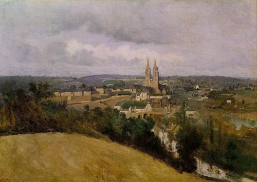 View of Saint Lo with the River Vire in the Foreground by Jean-Baptiste Camille Corot