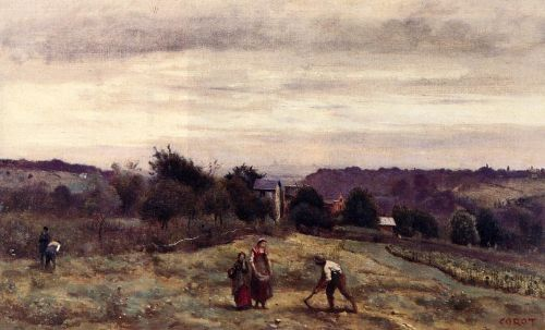 Ville d'Avray - The Heights by Jean-Baptiste Camille Corot