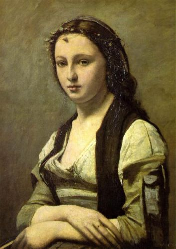 Woman with a Pearl by Jean-Baptiste Camille Corot