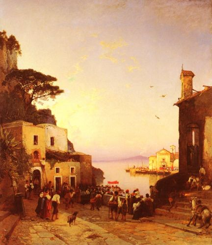 Processione A Sorrento by Hermann David Salomon Corrodi
