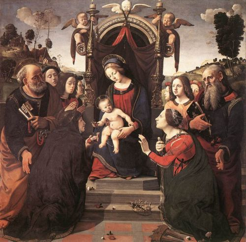 Mystical Marriage of St Catherine of Alexandria by Piero di Cosimo