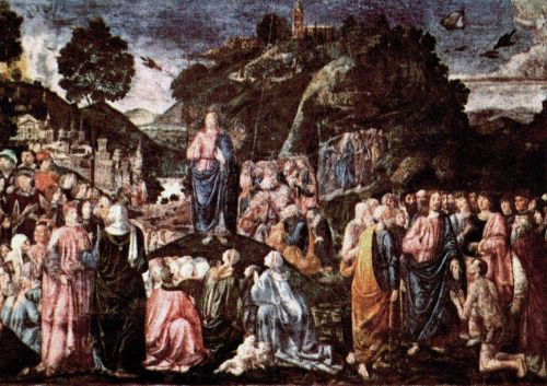 Sermon on the Mount and Healing of the Leper by Piero di Cosimo