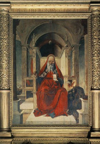 St Jerome by Lorenzo Costa