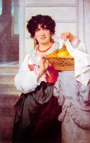 Pisan Girl with Basket of Oranges and Lemons by Pierre Auguste Cot