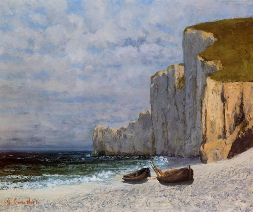 A Bay with Cliffs by Gustave Courbet
