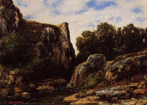 A Waterfall in the Jura by Gustave Courbet