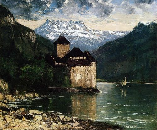 Chateau du Chillon by Gustave Courbet