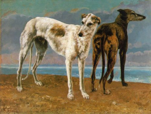 Count de Choiseul's Greyhounds by Gustave Courbet