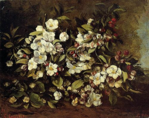 Flowering Apple Tree Branch by Gustave Courbet