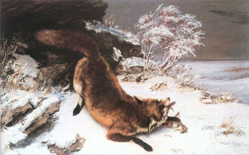 Fox in the Snow by Gustave Courbet