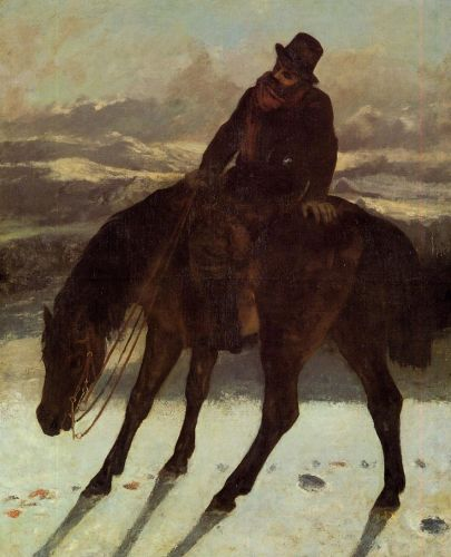 Hunter on Horseback by Gustave Courbet