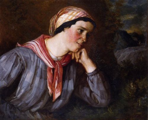 Peasant Wearing Madras by Gustave Courbet