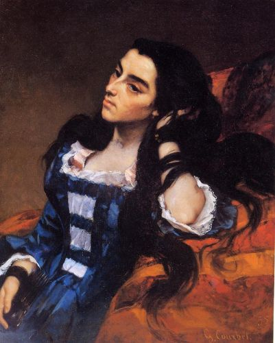 Portrait of a Spanish Lady by Gustave Courbet