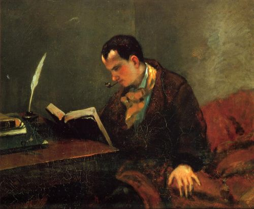Portrait of Baudelaire by Gustave Courbet
