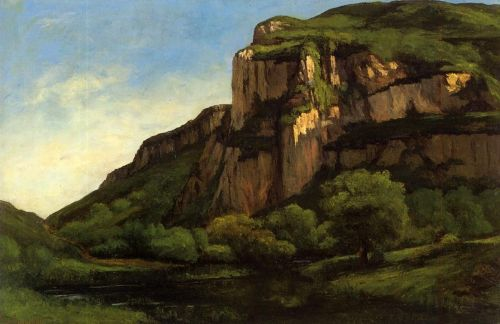 Rocks at Mouthier by Gustave Courbet