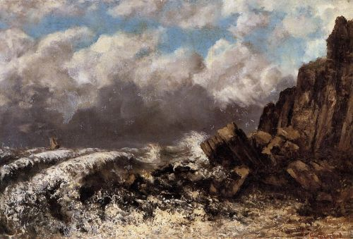 Seascape at Etretat by Gustave Courbet