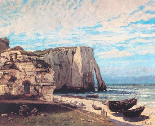 The Cliff at Etretat After the Storm by Gustave Courbet