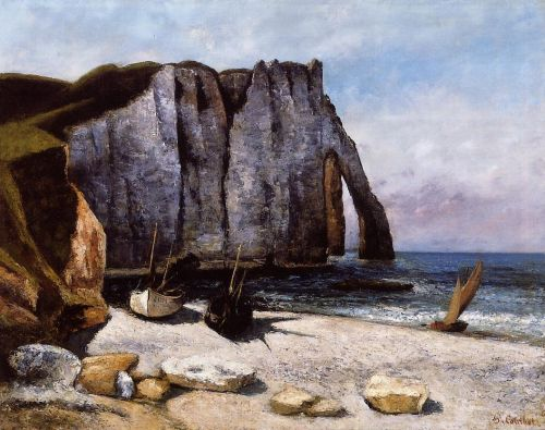 The Cliff at Etretat by Gustave Courbet