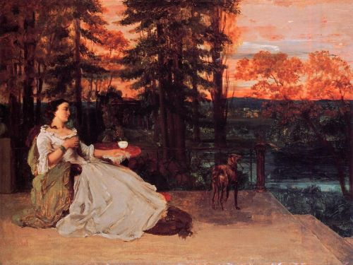 The Lady of Frankfurt by Gustave Courbet