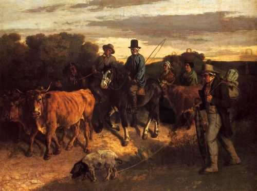 The Peasants of Flagey Returning from the Fair, Ornans by Gustave Courbet
