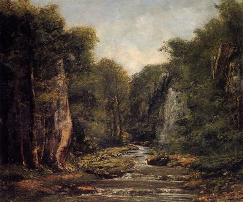 The River Plaisir-Fontaine by Gustave Courbet