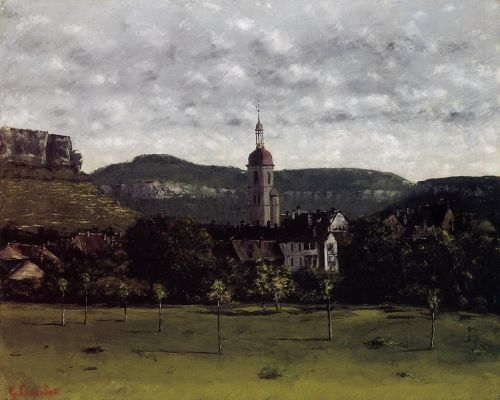 View of Ornans and Its Church Steeple by Gustave Courbet