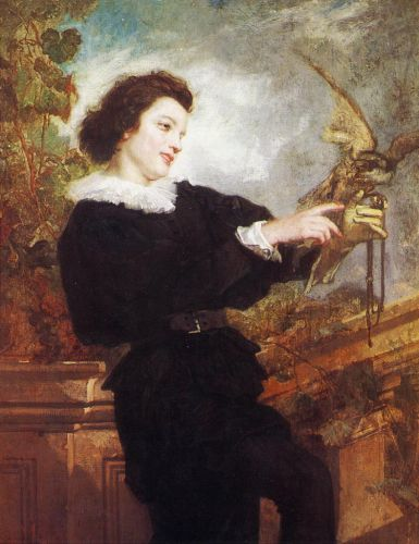 The Falconer by Thomas Couture