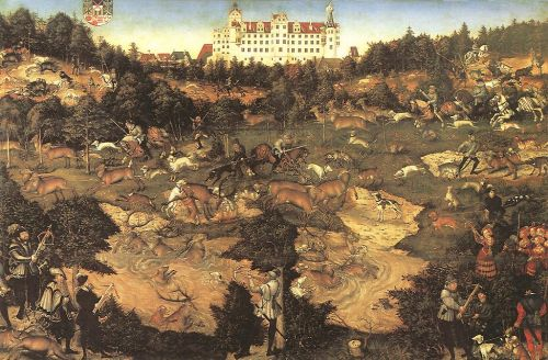 Hunt in Honour of Charles V at the Castle of Torgau by Lucas Cranach the Elder
