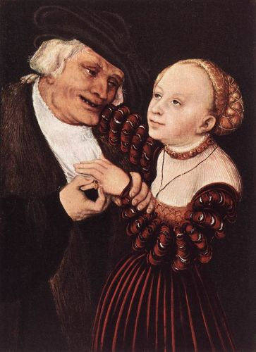 Old Man and Young Woman by Lucas Cranach the Elder