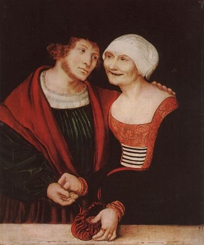 Old Woman and Young Man by Lucas Cranach the Elder